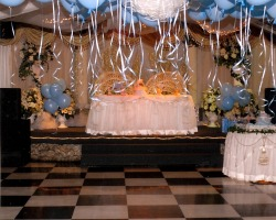 James charles fiduccia iv baby shower pictures for Baby shower hall decoration